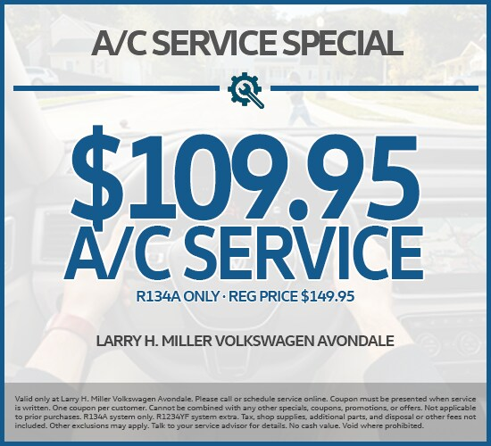 Save $40 On AC Service Just $109.95 at Larry H. Miller Volkswagen  Avondale
