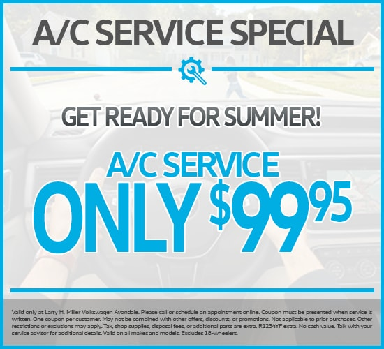 A/C SERVICE ONLY $99.95 at Larry H. Miller Volkswagen Avondale