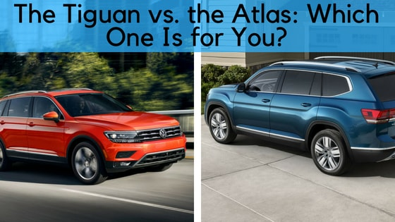 The Tiguan vs. the Atlas: Which One Is for You?