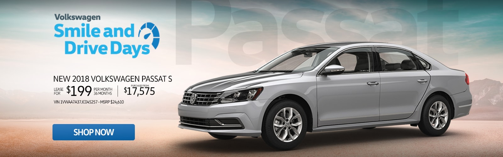 New 2018 Volkswagen Passat S Lease For Just $199 Or Purchase From $17,575 at Larry H. Miller Volkswagen Avondale