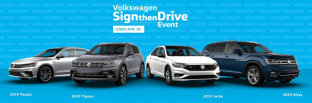 The Volkswagen Sign Then Drive Event is going on now at Larry H. Miller Volkswagen Avondale