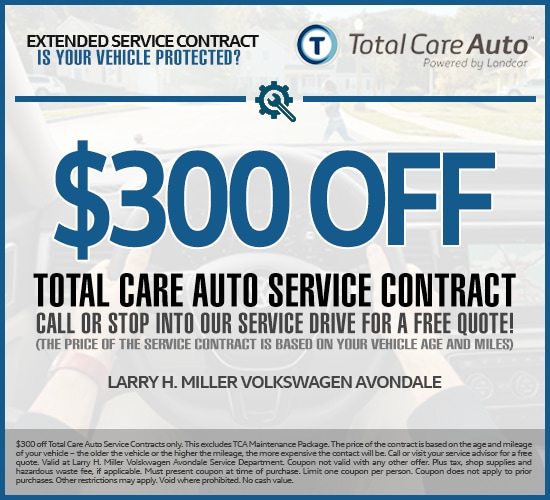 $300 Off Extended Service Contracts at Larry H. Miller Volkswagen Avondale