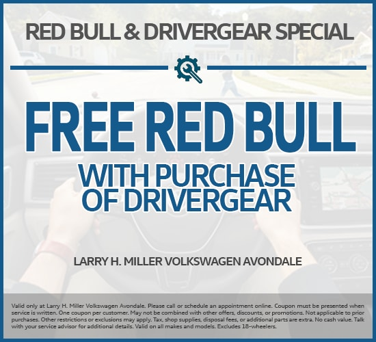 Free Red Bull With Purchase Of DriverGear at Larry H. Miller  Volkswagen Avondale