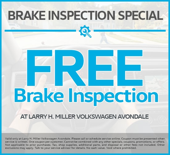 Free Brake Inspection at Larry H. Miller Volkswagen Avondale