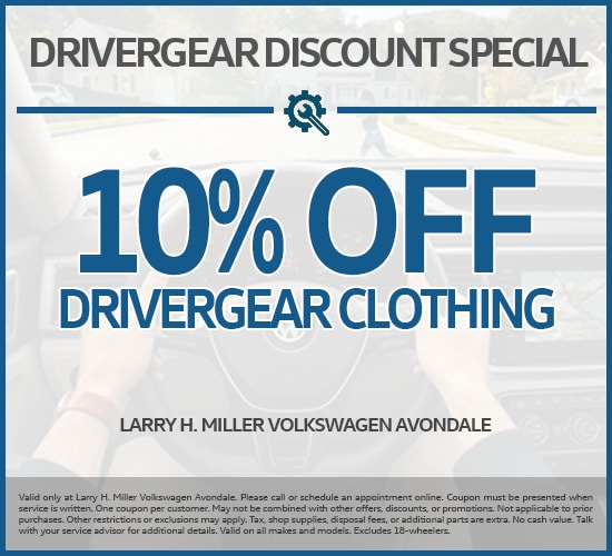 10% Off DriverGear Clothing at Larry H. Miller Volkswagen Avondale