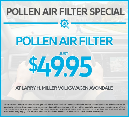 Pollen Air Filter Just $49.95 at Larry H. Miller Volkswagen Avondale