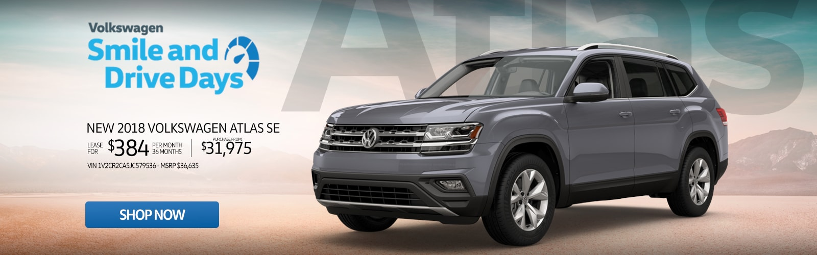 New 2018 Volkswagen Atlas SE Lease For Just $384 Or Purchase From $31,975 at Larry H. Miller Volkswagen Avondale