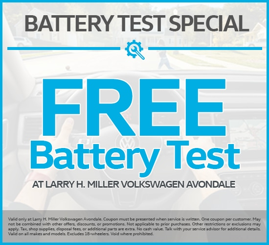 Free Battery Test at Larry H. Miller Volkswagen Avondale