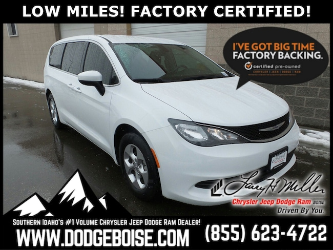 Certified Pre-Owned vehicles 2017 Chrysler Pacifica LX FWD LOW MILES! FACTORY CERTIFIED! Van for sale near you in Boise, ID