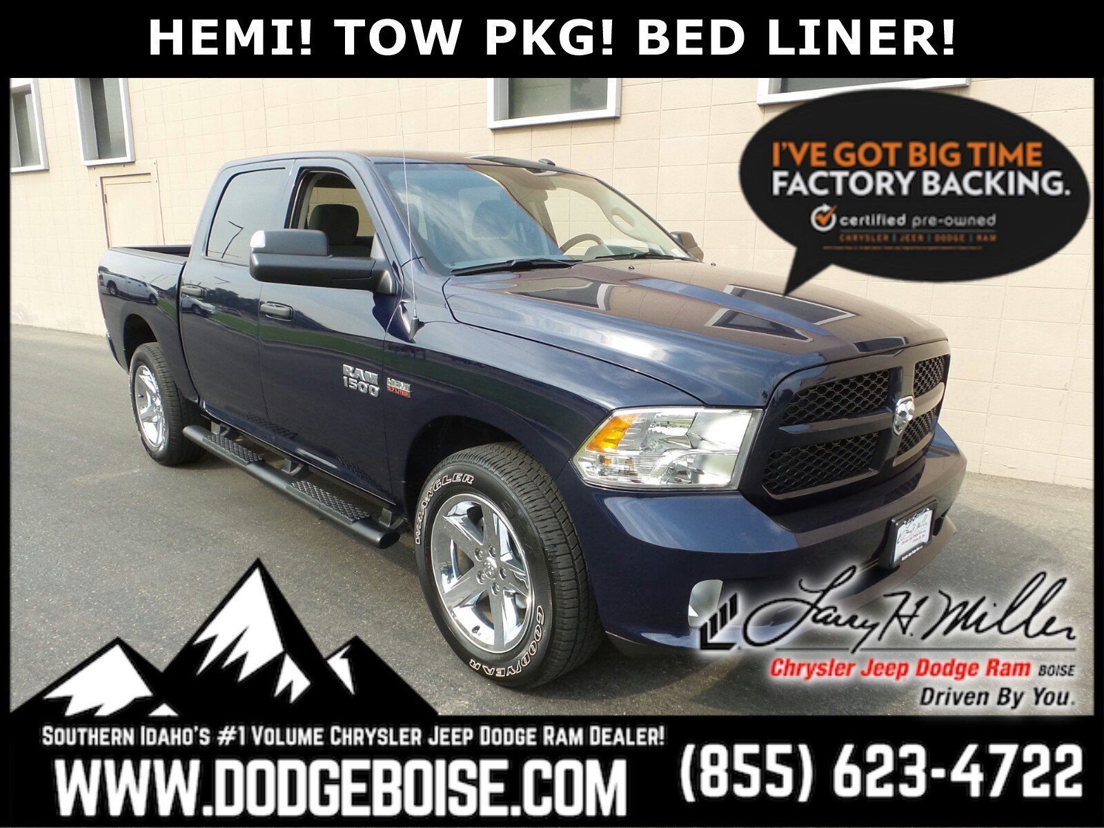 Featured Used 2018 Ram 1500 Crew Cab Express 4WD HEMI! TOW PKG! BED LINER! Truck Crew Cab for sale near you in Boise, ID