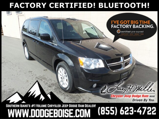Certified Pre-Owned vehicles 2018 Dodge Grand Caravan SXT FACTORY CERTIFIED! BLUETOOTH! Van Passenger Van for sale near you in Boise, ID