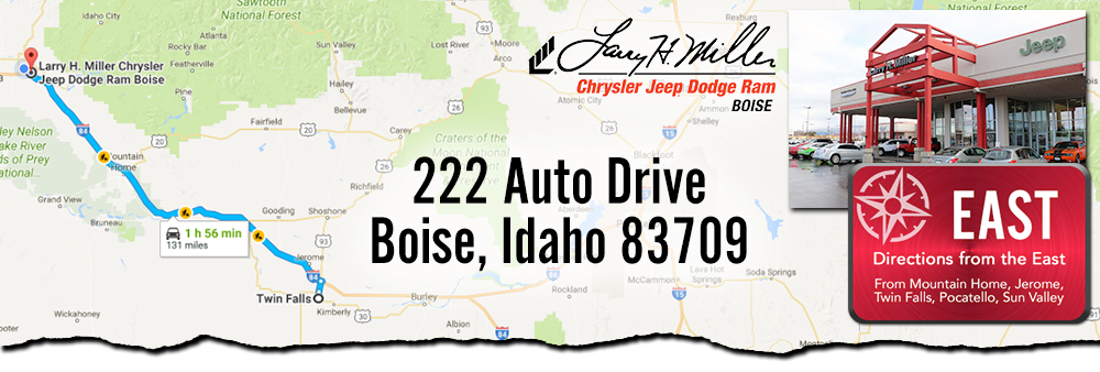 Larry H Miller Boise >> Directions from Twin Falls to Larry H. Miller Chrysler ...