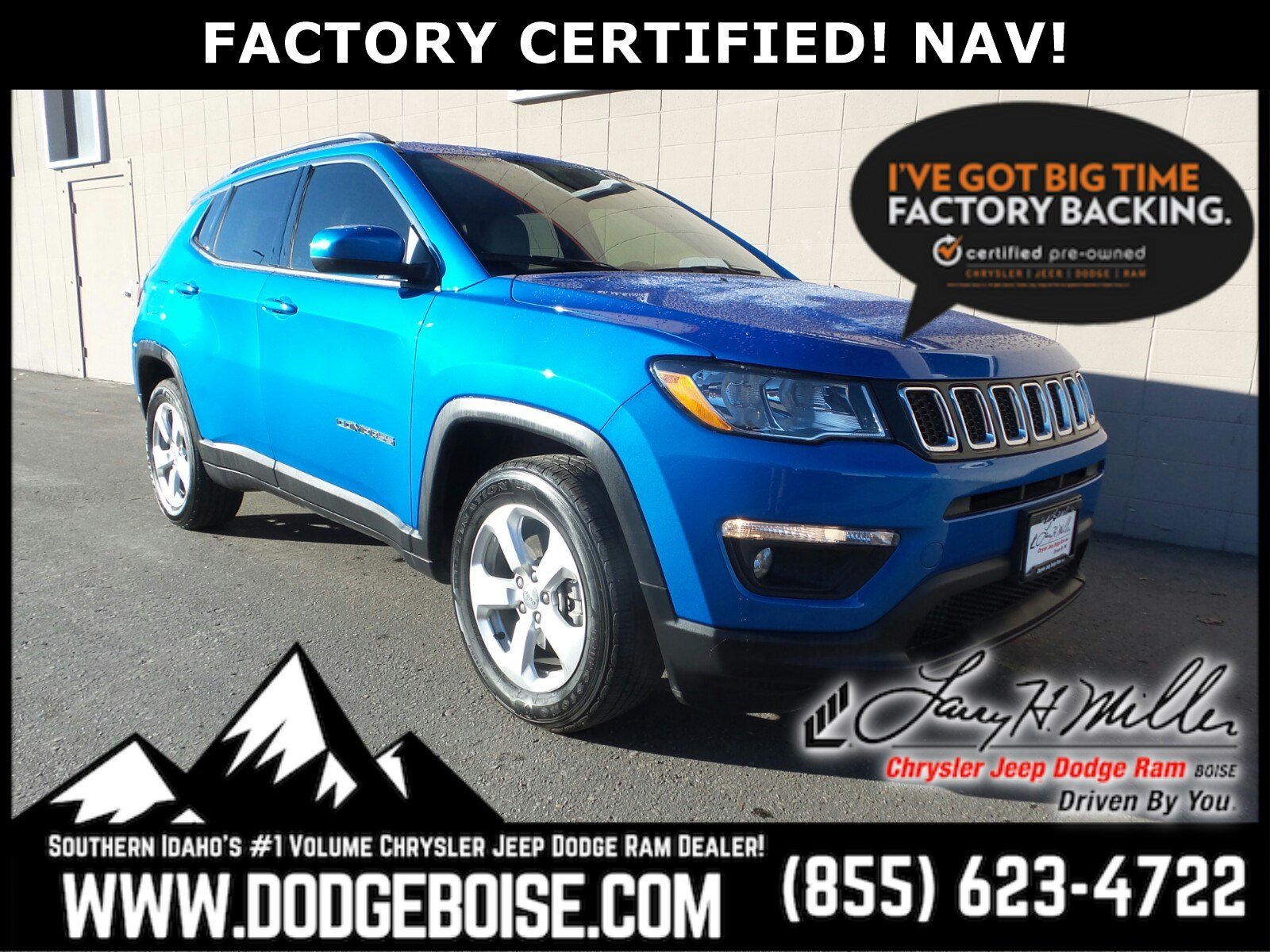 2017 Jeep New Compass Latitude FACTORY CERTIFIED! NAV! SUV