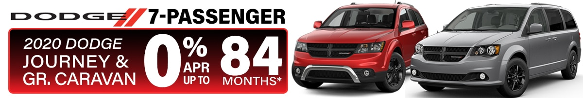 0% APR for 84 months on all in-stock New Dodge Journey and Grand Caravan in Peoria, AZ!