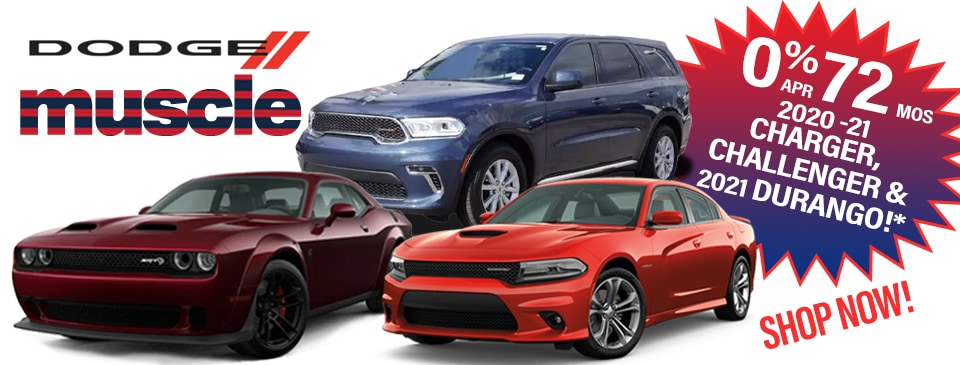 0% APR for 72 months on in-stock Charger, Challenger & Durango in Peoria, AZ!
