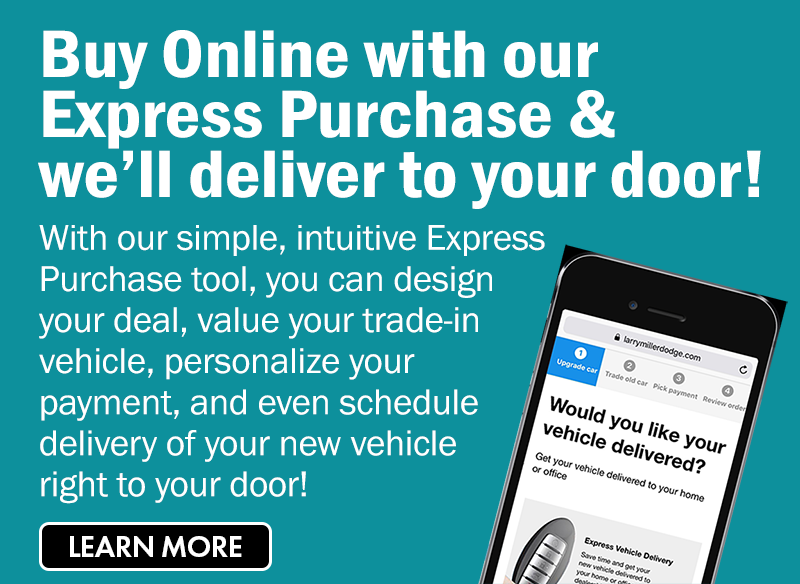 Buy your vehicle online and we'll deliver to your door.