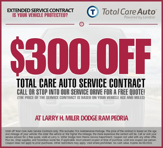 $300 Off Total Care Auto Extended Service Contract at Larry H.  Miller Dodge Ram Peoria