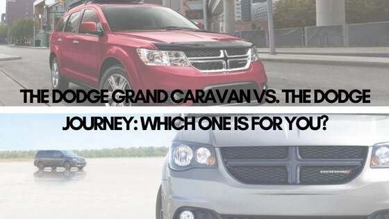 The Dodge Grand Caravan vs. the Dodge Journey: Which One Is for You?