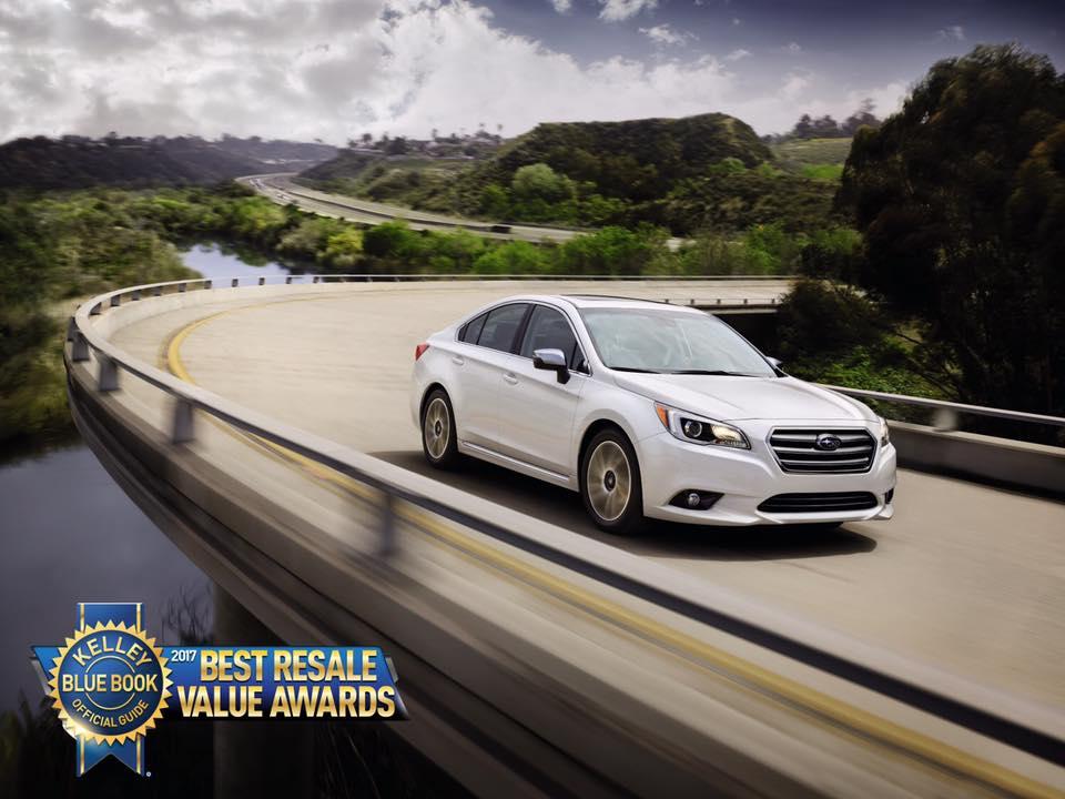 Subaru Earns Three Awards in Kelley Blue Book 2017 Best Resale Value ...