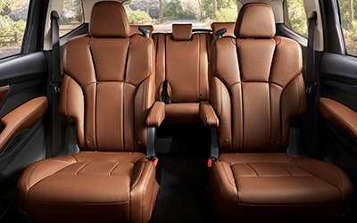second row captain chairs in Subaru Ascent