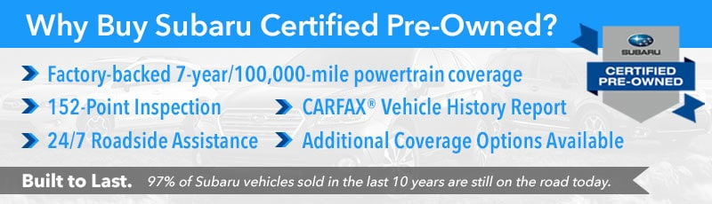 Why Buy Certified Pre-Owned at Larry H. Miller Subaru Boise