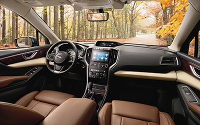 front cabin view Subaru Ascent