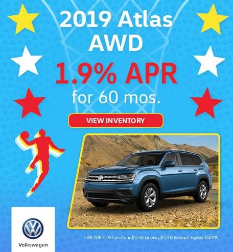 New 2019 Volkswagen Atlas