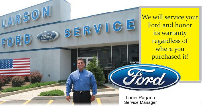 service and parts, larson ford nj