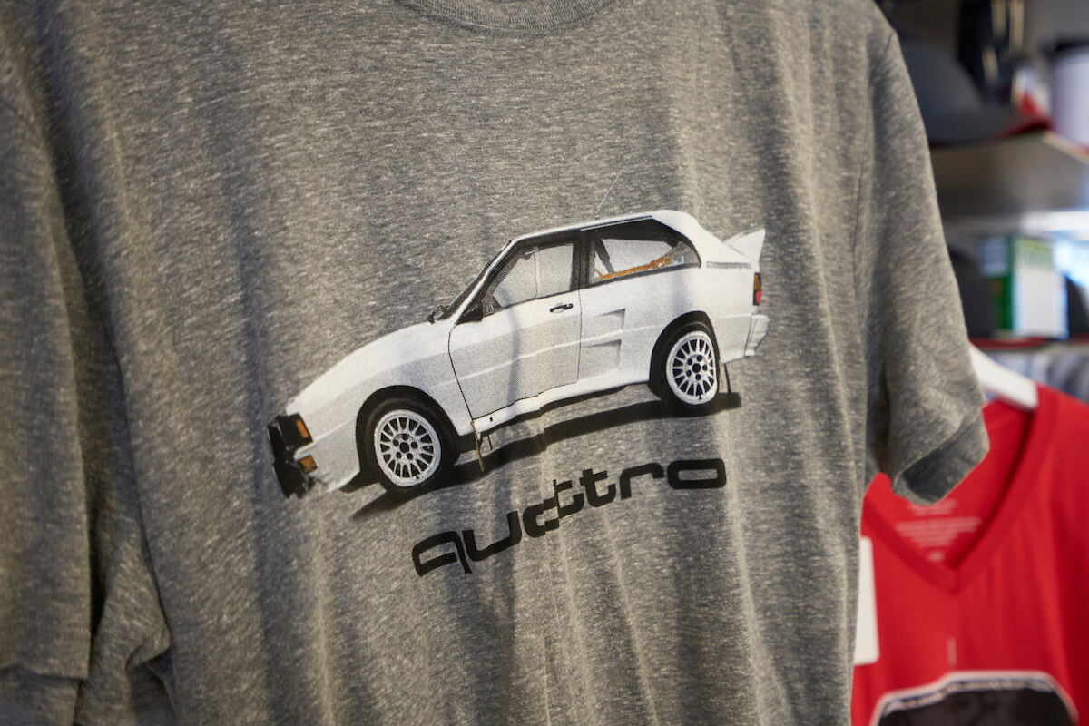 Audi quattro® inspired apparel at Audi Westmont