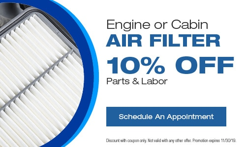 Engine or Cabin Air Filter