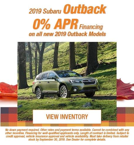 New 2019 Subaru Outback - Sept '19