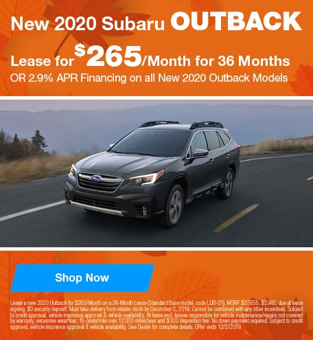 New 2020 Subaru Outback - November