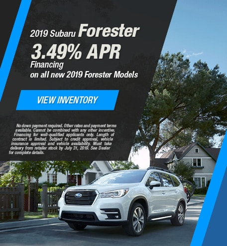 2019 Subaru Forester - July 2019