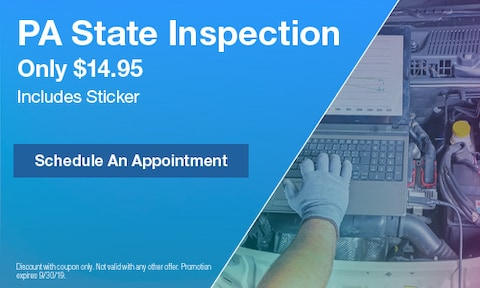 PA State Inspection Only $14.95