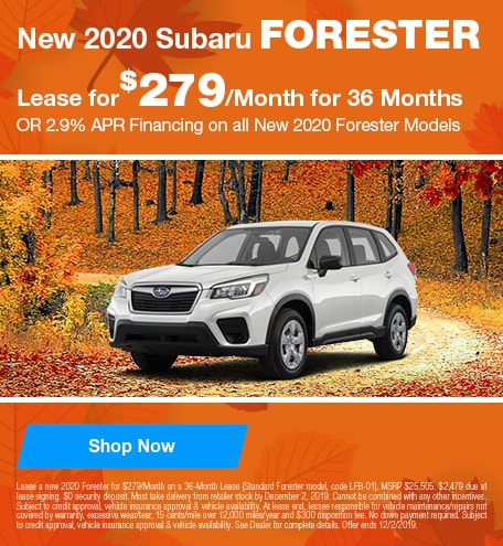 New 2020 Subaru Forester - November