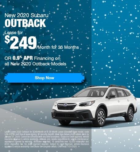 New 2020 Subaru Outback - Jan