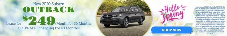 New 2020 Subaru Outback - May