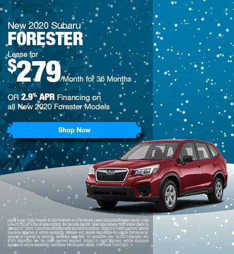 New 2020 Subaru Forester - Jan