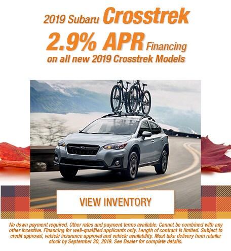 New 2019 Subaru Crosstrek - Sept '19