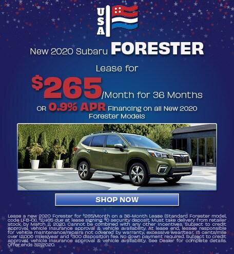 New 2020 Subaru Forester - Feb