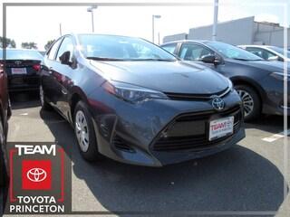 New 2019 Toyota Corolla L Sedan Front-wheel Drive Slate 2T1BURHE2KC145695 I-4 cyl 1.8L Variable E1031P Regular Unleaded Lawrenceville NJ