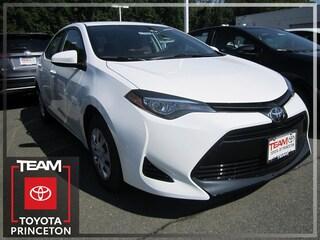 New 2019 Toyota Corolla L Sedan Front-wheel Drive Super White 2T1BURHE1KC127544 I-4 cyl 1.8L Variable E1008P Regular Unleaded Lawrenceville NJ