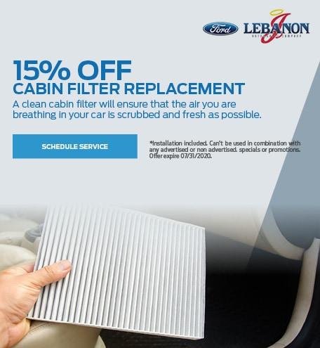 15% Off Cabin Filter Replacement