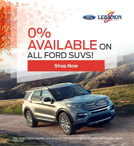0% Available On All Ford SUVs!
