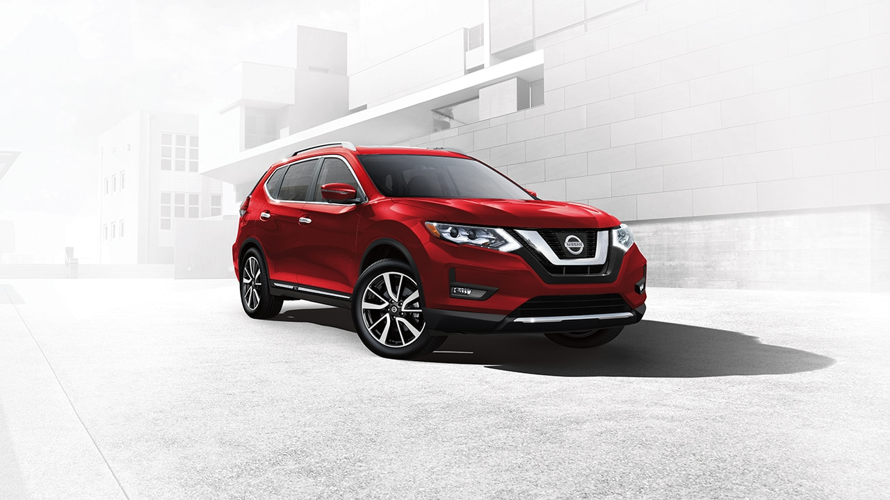 2017 Red Nissan Rogue