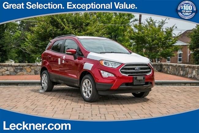 New 2018 Ford EcoSport SE SUV in Marshall, VA