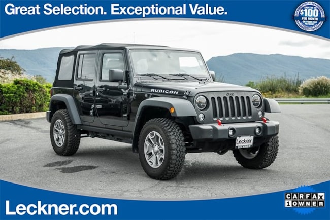 Used 2015 Jeep Wrangler Unlimited Rubicon SUV For Sale Woodstock, VA