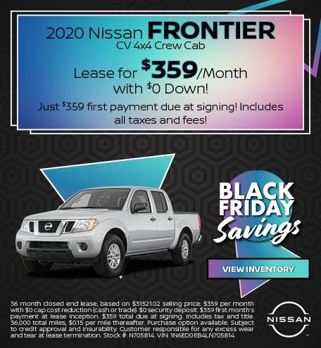 2020 Nissan Frontier CV 4x4 Crew Cab