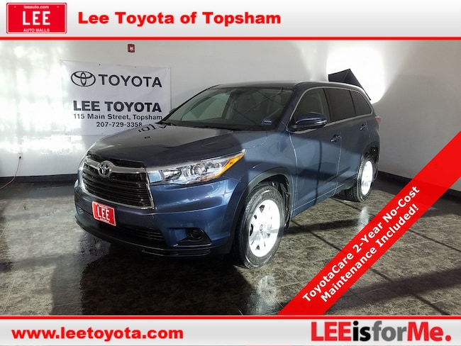 Certified Used 2016 Toyota Highlander LE SUV in Topsham, MA
