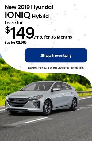 January New 2019 Hyundai Ioniq Hybrid Lease Offer